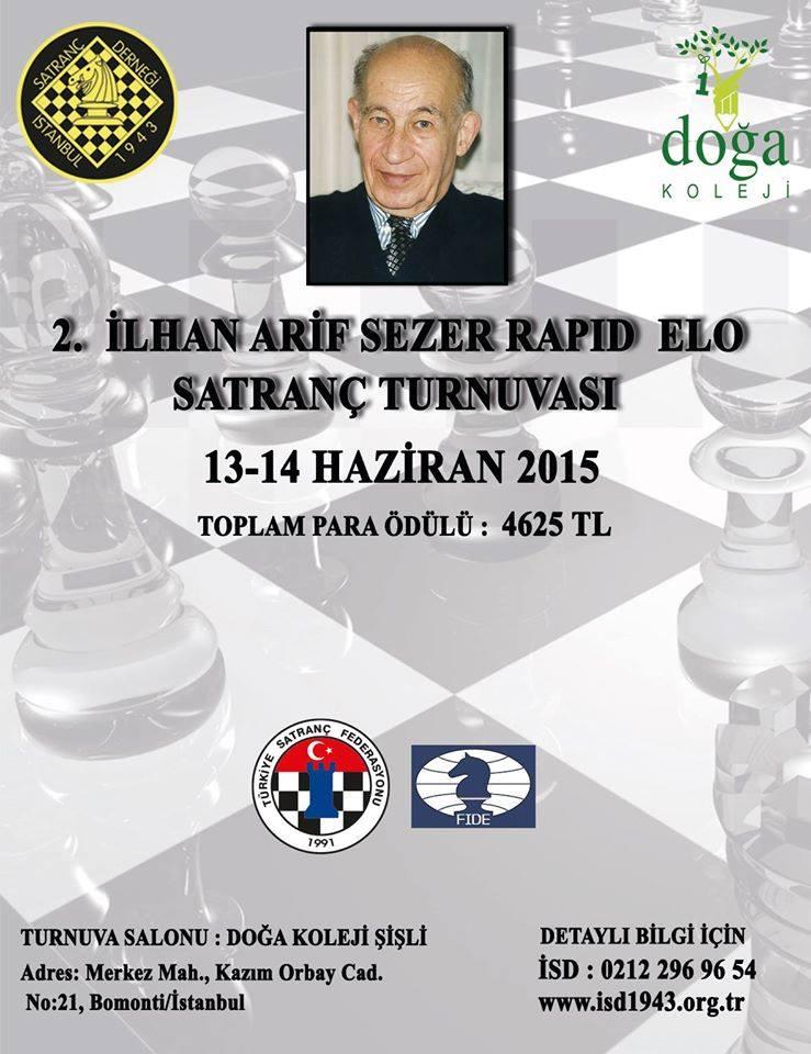 2. İlhan Arif Sezer Rapid ELO Satranç Turnuvası