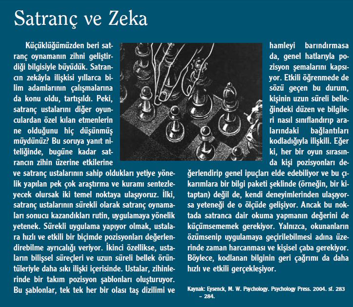 Satranç ve Zeka – Eysenck